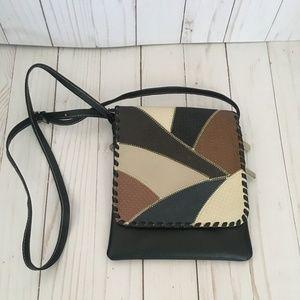 Ecuadorian Handmade Black Crossbody Leather Bag